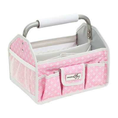 Craft Tool Box Metal Handle Pink Star 20x26.5x25.5cm  Everything Mary EVM12016-3
