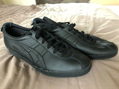 quality design 75d9c 1d853 ASICS ONITSUKA TIGER Mexico All Black Trainers Mens UK Size 11