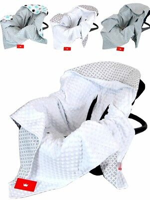 NEW All season DOUBLE SIDED / CAR SEAT BABY BLANKET / BABY WRAP FOR CAR SEAT