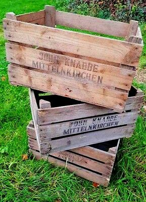 Rare Wooden Vintage Wooden Farm Crate - Storage Display Drawer Unit Shelves``