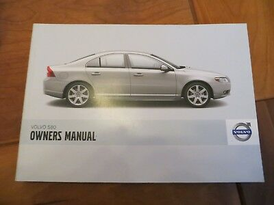 2007 NEW Owners Manual Volvo S80 LHD and RHD