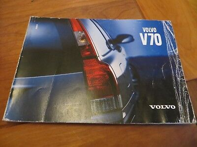 2001 Owners Manual Volvo V70