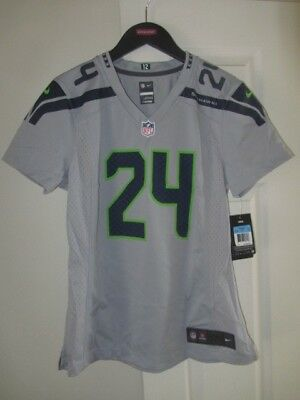 Nike - Marshawn Lynch Seattle Seahawks  24 Wolf Gray WOMENS Jersey Size M -  NWT cce287ac0