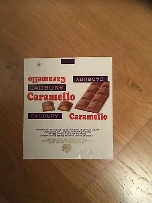 Cadbury's Advertising Caramello Chocolate Export Wrapper 1970s