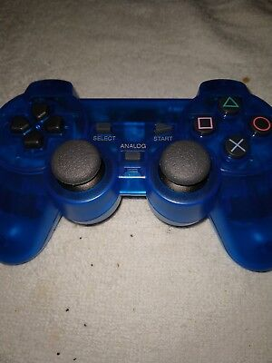Wireless Shock Game Controller for Sony Ps2 - Blue