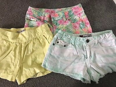 3 X Girls Shorts Cotton On Piping Hot Target In Size 8 In Fabulous Condition
