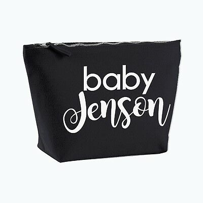 Personalised Baby Nappy Bag Pouch Mini Changing Bag GIFT FOR NEW BABY #M1