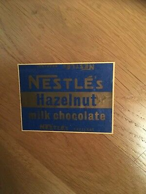 1956 Nestle Advertising Hazelnut Chocolate Wrapper