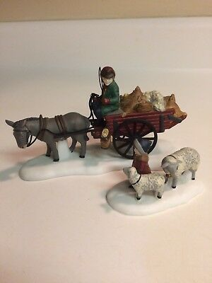 Dept 56, Dickens Village, Bringing Fleeces To The Mill, #58190 - MINT
