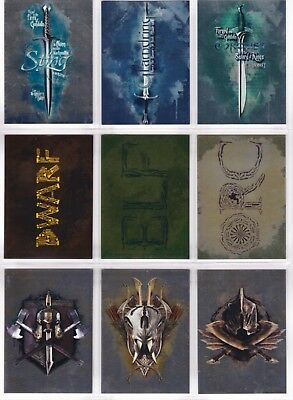 The Hobbit Battle Of The Five Armies, Foil 'Weapons' Chase Set #W1-9