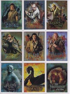 The Hobbit The Desolution if Smaug,'Character Biography' Chase Card Set CB20-28