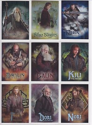 The Hobbit An Unexpected Journey, 'Character Biography' Chase Card Set CB01-19