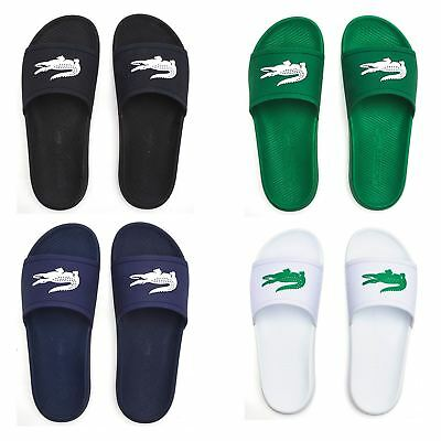b8694509d LACOSTE CROCO 119 1 CMA Slide Pool Beach Sandals in Black