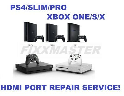 Sony PS4/Slim/Pro Microsoft Xbox One/S/X Broken/Damaged HDMI Port Repair Service