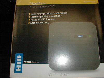 GENUINE HID 125kHz PROXIMITY CARD READER 5375AGN00 FREE SHIPPING!