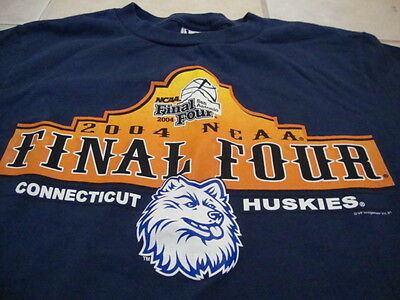 Vintage NCAA Uconn Huskies University Final Four Basketball Fan T Shirt Youth L