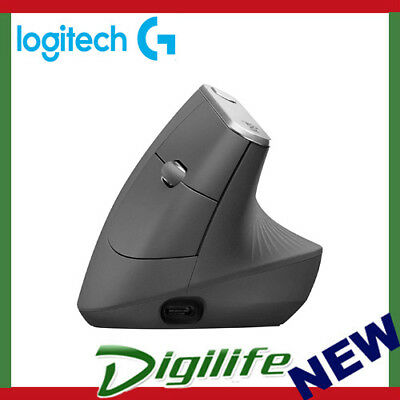 Logitech MX Vertical Wire and Wireless Advanced Ergonomic Mouse for less muscula