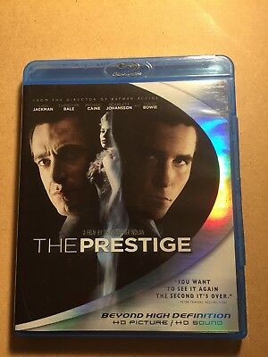 The Prestige (Blu-ray Movie/Disc; Christian Bale, Hugh Jackman; 2006) Like New