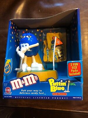 M&M's Puttin' GOLF BLUE dispenser New Box never opened