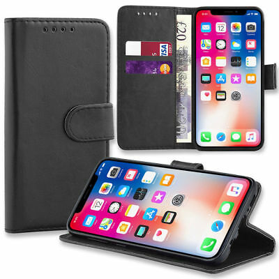 Genuine Leather Case Apple For  iPhone 10 8 7 6 Plus 5S  XS XR Max Flip Wallet
