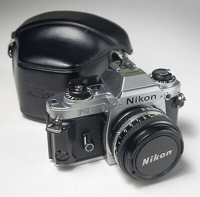 Nikon FG with 50mm Pancake F1.8 Lens and Case in Excellent Condition