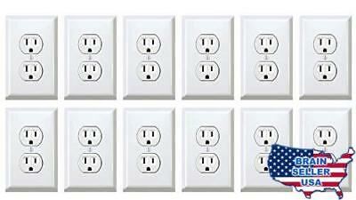 Fake Outlet Stickers Prank - Airport Wall Sockets - 12 pack - Funny Electrical P