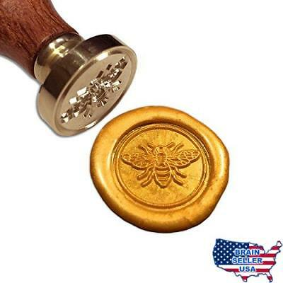 Bee Wax Seal Stamp, [Also Available in Other Patterns], Botokon Vintage Retro Br