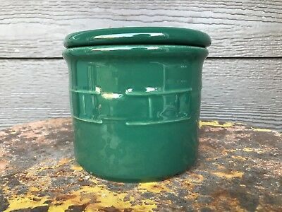 "Longaberger ""Woven Traditions"" Pottery ~Ivy Green~ One Pint Crock w/Lid"