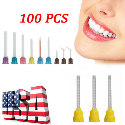 US Local 50/100 PCS Intra Oral Dental Impression Mixing Tips 4.2 1 5.0 6.5mm e0