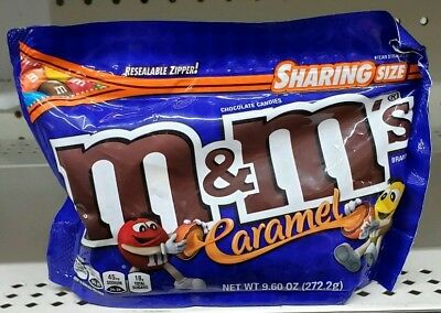 Caramel M&M's 9.6 Oz Sharing Size With Resealable Bag Milk Chocolate Candies