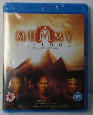 The Mummy Trilogy Blu-ray 3-Disc Set - NEW! Region Free 3 Film Collection