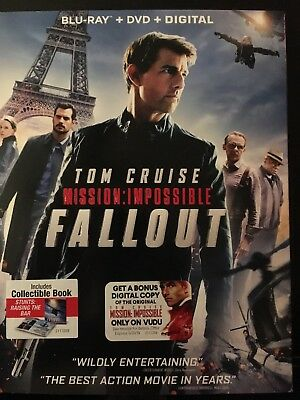 Mission Impossible: Fallout Blu Ray ONLY With Slip Cover