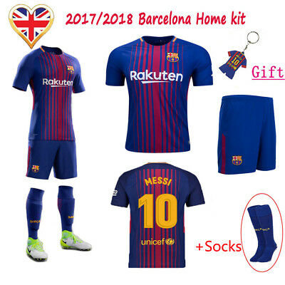 055d229a4 2018-19 FOOTBALL KIDS Club Kits Youth 3-12 Yrs Short Sleeve Jersey ...