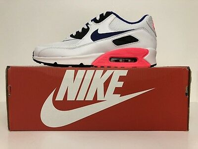 on sale a9393 8c268 NIKE AIR MAX 90 Essential 537384 136 Wht ultramarineSolar Red Size 10