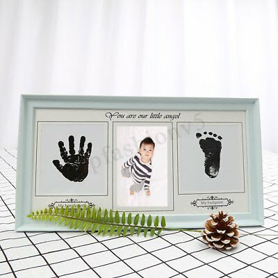 Baby Hand & Foot Print Ink Imprint Photo Picture Frame Christening Keepsake