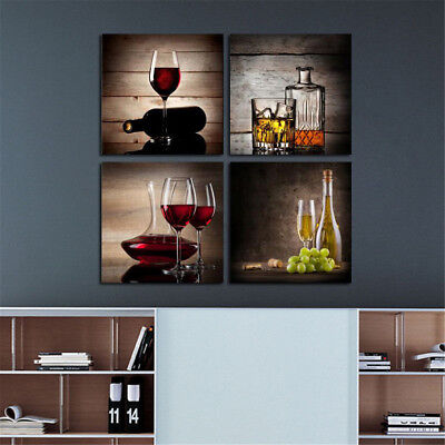 NEW Framed Abstract Wine Canvas Art Oil Print Painting Pictures Wall Home