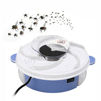 Electric Automatic Flycatcher Fly Trap Pest Control Catcher Mosquito Zapper