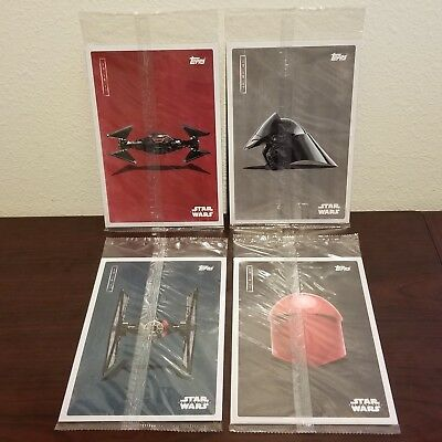 New! Disney Star Wars Last Jedi Movie Premier Topps Cards - 4 Unopened Packs