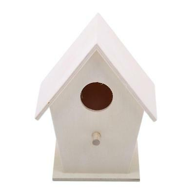 Wooden Bird House Nest Dox Nest House Bird Box Wooden Birdhouse Decor Home DD