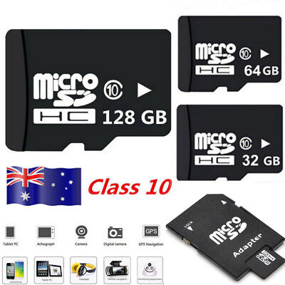 Micro SD Card 32GB 64GB 128GB Ultra Class 10 SDXC SDHC Memory Card +Free Adapter