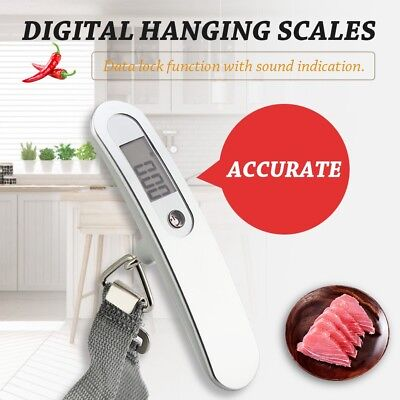 Portable Travel 110lb/50kg LCD Digital Hanging Luggage Scale Electronic Weight