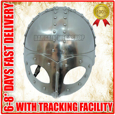 Medieval Viking Mask Helmet Reenactment Deluxe Warrior Armor COLLECTIBLE EDH q35