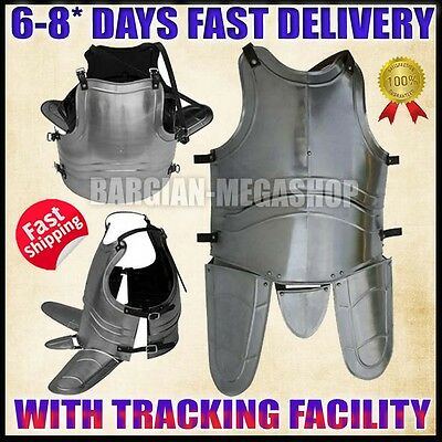 Medieval Jousting Knight Steel Cuirass Knight Body Armor Reenactment Costume a66
