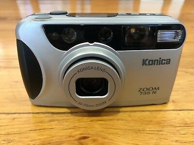 Konica Zoom 735-N  //  35mm point and shoot film camera  // Autofocus Self Timer