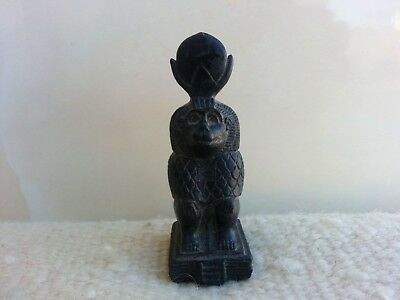 Vintage Antique Egyptian Statue God Thoth/ God of Writing & Wisdom /Baboon Form