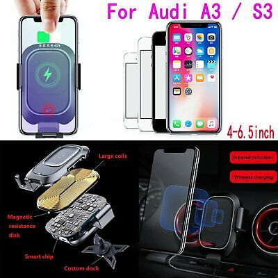 Phone Car Air Vent Mount Holder Wireless Fast Charging Receiver for Audi A3 /S3