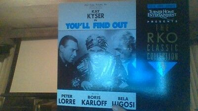Super Rare Lot Of 2 Lugosi Laserdisc Laser Disc You'll Find Out / White Zombie