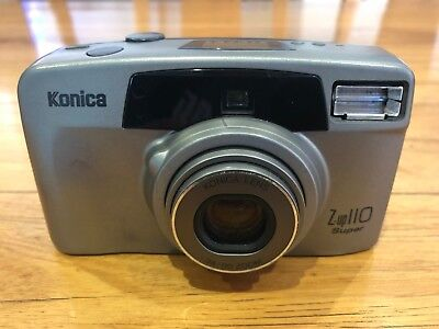 Konica Z-up 110 Super  //  35mm point and shoot film camera Autofocus Self Timer
