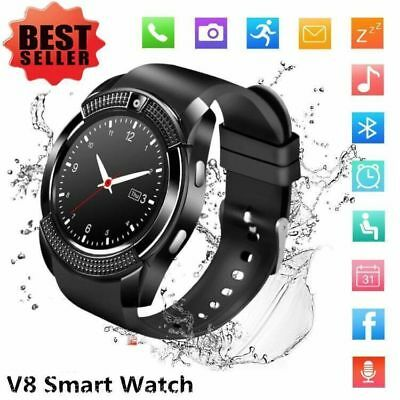 Waterproof V8 Smart Watch Bluetooth SIM Phone & Camera For Android/iOS NEW SM