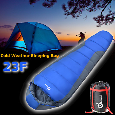 Ultra Light Mummy Sleeping Bag Warm Soft Waterproof for Camping 4 Season Outdoor